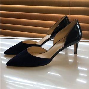 Nine West navy blue heels